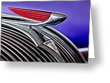 1937 Hudson Terraplane Sedan Hood Ornament 2 Greeting Card