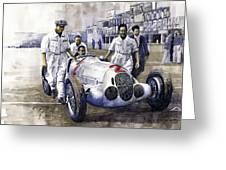1937 Italian Gp Mercedes Benz W125 Rudolf Caracciola Greeting Card