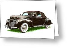 1937 Lincoln Zephyer Greeting Card
