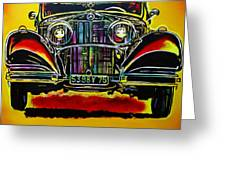 1937 Mercedes Benz First Wheel Down Greeting Card by Eric Dee