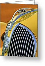 1937 Plymouth Hood Ornament 2 Greeting Card