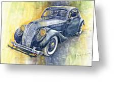 1937 Skoda Popular Sport Monte Carlo Greeting Card