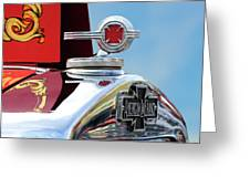 1938 American Lafrance Fire Truck Hood Ornament Greeting Card