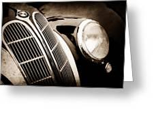 1938 Bmw 327-8 Cabriolet Grille Emblem -1526s Greeting Card