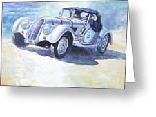 1938 Bmw 328 Roadster Caracciola Gp 2016 Winner Greeting Card