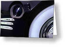 1938 Cadillac Limo Wheel Well Reflections Greeting Card