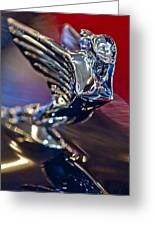 1938 Cadillac V-16 Hood Ornament Greeting Card
