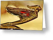 1938 Cadillac V-16 Sedan Hood Ornament 2 Greeting Card