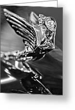 1938 Cadillac V16 Hood Ornament Greeting Card