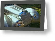 1938 Delage D8 - 120 Aerodynamic Coupe Front Grill Greeting Card