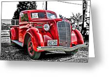 1938 Diamond T Hdr Greeting Card