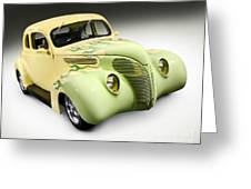 1938 Hot Rod Ford Coupe Greeting Card