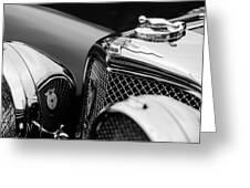 1938 Jaguar Ss100 3.5-liter Roadster Grille Greeting Card