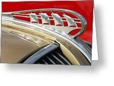 1938 Plymouth Hood Ornament Greeting Card