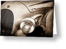 1938 Talbot-lago 150c Ss Figoni And Falaschi Cabriolet Headlight - Emblem -1554s Greeting Card