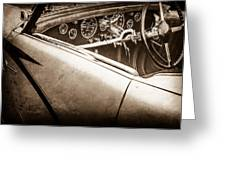 1938 Talbot-lago 150c Ss Figoni And Falaschi Cabriolet Steering Wheel -1561s Greeting Card