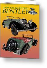 1939 Bentley Drop Head Coupe Greeting Card