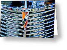 1939 Chevrolet Coupe Grille Emblem Greeting Card