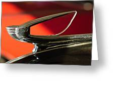 1939 Chevrolet Hood Ornament 2 Greeting Card