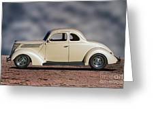 1939 Chevrolet White Coupe Greeting Card