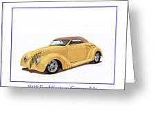 1939 Ford Custom Street-rod Convert Greeting Card