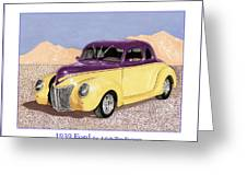 1939 Ford Deluxe Street Rod Greeting Card