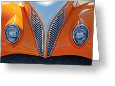 1939 Ford Hot Rod Cvt Grille Greeting Card