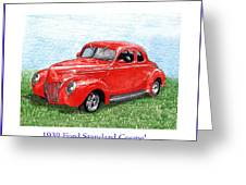 1939 Ford Standard Coupe Greeting Card