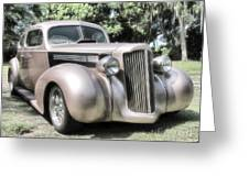 1939 Packard Coupe Greeting Card by Richard Rizzo
