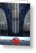 1939 Pontiac 6 Opera Coupe Grille Emblem Greeting Card