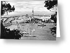 1939 Treasure Island View Greeting Card