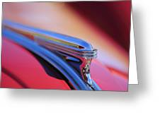 1940 Buick Century Hood Ornament Greeting Card
