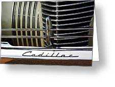1940 Cadillac 60 Special Sedan Grille Greeting Card