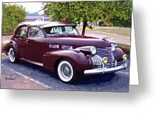 1940 Classic Cadillac  Greeting Card