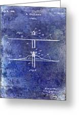 1940 Cymbal Patent Blue Greeting Card
