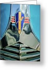 1940 Dodge Business Coupe Emblem Greeting Card