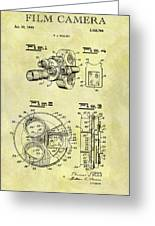 1940 Film Camera Patent Greeting Card