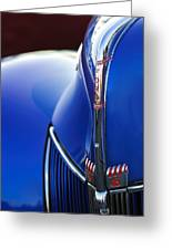 1940 Ford V8 Hood Ornament 3 Greeting Card