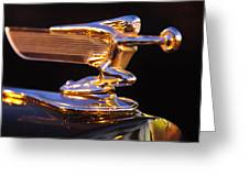 1940 Packard Hood Ornament Greeting Card