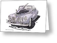 1940 Plymouth P 1 Convertible Greeting Card