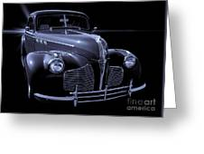 1940 Torpedo Coupe B/w Greeting Card