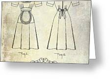 1940 Waitress Uniform Patent Greeting Card