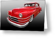 1940s Custom Chrysler New Yorker In Red Greeting Card