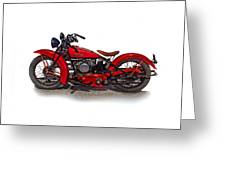 1940's Indian Motorcycle Greeting Card