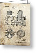 1940s Oil Drill Bit Patent Greeting Card