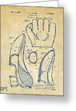 1941 Baseball Glove Patent - Vintage Greeting Card by Nikki Marie Smith