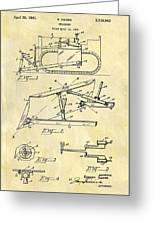1941 Bulldozer Patent Greeting Card