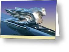 1941 Cadillac Mascot Greeting Card