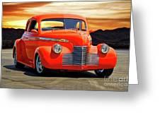 1941 Chevrolet Coupe 'reno Sunrise' Greeting Card