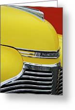 1941 Chevrolet Sedan Hood Ornament 2 Greeting Card by Jill Reger